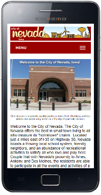 City of Nevada, Iowa Mobile Site