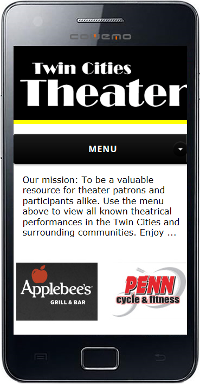 Twin Cities Theater Mobile Site